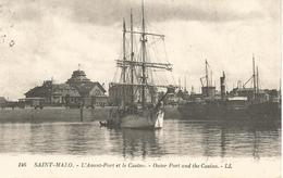 SAINT-MALO.  -  L'Avant-Port Et Le Casino.  (scan Verso) - Saint Malo