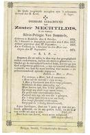 Zuster MECHTILDIS - Silvie Pelagie Van Dommele - Rumbeke 1834 - Klooster Anseghem - Overl . Cachtem 1874 - Andachtsbilder