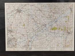 Militaire En Topografische Kaart UK War Office 1943 World War 2 WW2 Kortrijk Oudenaarde Ronse Orroir Zwevegem Avelgem - Cartes Topographiques