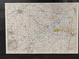 Militaire En Topografische Kaart UK War Office 1943 World War 2 WW2 Kortrijk Oudenaarde Ronse Orroir Zwevegem Avelgem - Mapas Topográficas