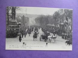 CPA 78 VERSAILLES LECORTEGE  ROI ET REINE ITALIE A PARIS 1903 - Versailles