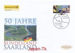 GERMANY Mi. Nr. 2581 50 Jahre Bundesland Saarland - FDC - [7] Federal Republic