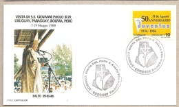 Uruguay - Busta Con Annullo Speciale: Visita Di S.S. Giovanni Paolo II - 1988 - Uruguay