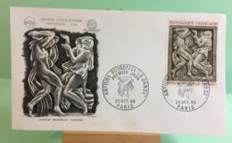 Antoine Bourdelle (la Danse) (n°656) Paris 26.10.1968 -FDC 1er Jour Coté 3€ - FDC