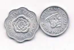 5 + 1 CENT 1972 SEYCHELLEN /1277/ - Seychelles