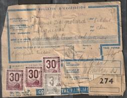 France Colis Postaux Bulletin D'expédition Abîmé Timbre Bons - Colis Postaux