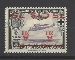 Spagna - 1927 - Usato/used - Red Cross - Stampa Rovesciata - Mi N. 369 - 1889-1931 Regno: Alfonso XIII