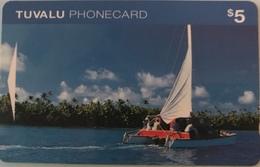 TUVALU  -  Phonecard  $5 - Tuvalu