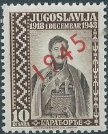 Yugoslavia - Jugoslavia,Refugee Goverment,overprint  1945  On 10 Dinara, MNH - 1945-1992 République Fédérative Populaire De Yougoslavie