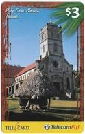 Fiji - Telecom Fiji - Churches, Holy Cross, Cn.99234, Remote Mem. 3$, Used - Fiji