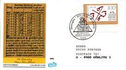 """BRD Schmuck-FDC """"500. Geburtstag Von Adam Riese"""" Mi. 1612 ESSt 7.5.1992 BERLIN 12 - [7] Federal Republic"""