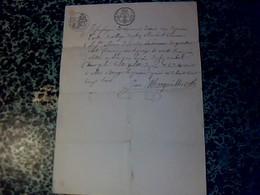Vieux Papier De 1828 Cachet En Sus & Fiscal De25 Ct Acte De Vente  Un Pré à St Simon De Borde Fait à Allas Bocage - Cachets Généralité
