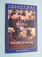VOUS AVEZ UN MESS@GE > Pathé NICE ( Programme ) 1999 ( Voir Photo > 2 Scan ) ! - Publicidad