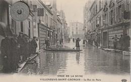 94 - Carte Postale Ancienne De VILLENEUVE SAINT GEORGES    Crue De La Seine Rue De La Paris - Villeneuve Saint Georges