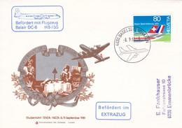 Mi: 1153 / Zu: 625. Studienfahrt Tenda - Nizza 8.+9. September 1981. Befördert Mit Flugzeug Balair DC-6 HB-IBS - Poste Aérienne