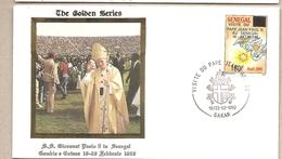 Senegal - Busta FDC Con Serie Completa Ed Con Annullo Speciale: Visita Di S.S. Giovanni Paolo II - 1992 - Senegal (1960-...)