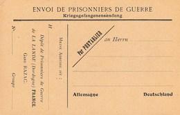 Carte Franchise Dépot De Prisonniers De Guerre De La Lande De Razac Dordogne - Marcofilie (Brieven)