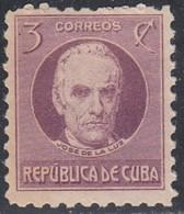 Cuba, Scott #310, Mint Hinged, Jose De La Luz Caballero, Issued 1930 - Cuba