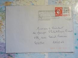 Association Des Paralysés De France... St Quentin Basilique 15/01/1991 - Marcophilie (Lettres)