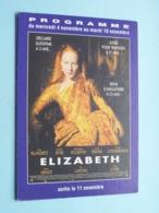 ELIZABETH > Pathé STRASBOURG ( Programme ) 1998 ( Voir Photo > 2 Scan ) ! - Publicidad