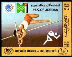 1984 Jordan Summer Olympic Games In Los Angeles Imperforated MS MNH** Mi B 48 Athletics High Pole Jump - Jordanien