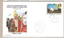 Bolivia - Busta Con Annullo Speciale: Visita Di S.S. Giovanni Paolo II - 1988 - Bolivia
