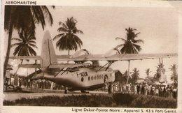Aeromaritime-ligne Dakar Pointe Noire-appareil S.43 A Port Gentil(aviation) - Sénégal