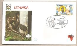 Uganda - Busta Con Annullo Speciale: Visita Di S.S. Giovanni Paolo II - 1993 - Uganda (1962-...)
