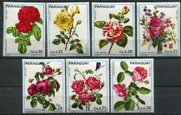 Paraguay Mi# 2537-43  Postfrisch MNH - Flora Roses - Paraguay