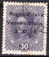 1918 Venezia Giulia Francobollo Di Austria Sopr. H.30 - Usato - Venezia Giulia