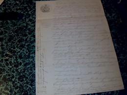 Vieux Papier De 1854 Cachet En Sus & Fiscal De35 Ct Acte De Cessation D'une Terre Labourable à St Simon De Bordes - Cachets Généralité