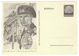 Entier Postal  - Panzer  - Epoque Du NSDAP  - Surcharge Lothringen - Guerre 1939-45