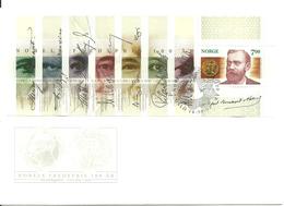 Norway 2001 Nobel Peace Prize, Alfred Nobel Mi Bloc 22 FDC - Norwegen