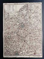 Oude Geografische  Kaart  (Jaren'20) VTB Antwerpen Kapellen Kalmthout Lillo Wilmarsdonk Mechelen Brasschaat Hulst Lier - Cartes Géographiques