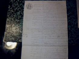 Vieux Papier De 1855 Cachet  Impérial & Fiscal De35 Ct Vente De Biens à St Simon De Bordes - Cachets Généralité