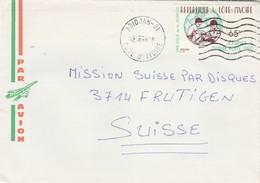 Côte D' Ivoire - Lettre ABIDJAN 01 Du 2/9/1980 Pour Frutigen Suisse - Journée Du Timbre - Côte D'Ivoire (1960-...)