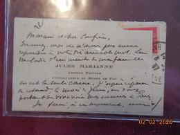 Carte De Visite De Jules Marianne, Conservateur Du Musée De Pau - Cartes De Visite