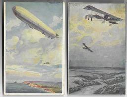 Lot De 2 Cartes De L'aviation Allemande  - Grande Guerre - Guerre 1914-18