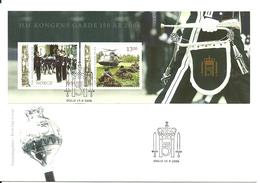 Norway 2006 HM Kings Guards 150 Years Anniversary,  Mi Bloc 32   FDC - Norwegen