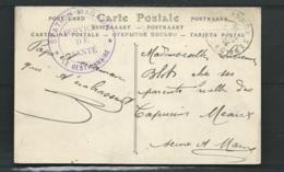 """Au Dos D'1 Cpa D'Auxerre ( 89) Cachet Violet """"station-magasin - Service De Sante/ Le Gestionnaire"""" 06/1916 -  Am 22303 - Poststempel (Briefe)"""