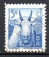 CANADA. N°288 Oblitéré De 1956. Chèvre Des Montagnes. - Hoftiere
