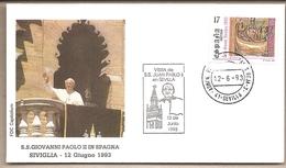 Spagna - Busta Con Annullo Speciale: Visita Di S.S. Giovanni Paolo II - 1993 - 1991-00 Storia Postale