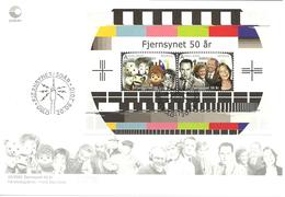 Norway 2010 Television 50 Years Anniversary, NRK   Mi Bloc  40   FDC - Norwegen