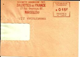 Lettre  EMA   Havas M  SA Bauxites De France Industrie Metier Marseille   C6/7 - Marcophilie (Lettres)
