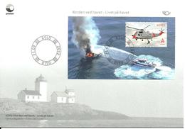 Norway 2012 Norden: Life At Sea, Helicopter, Ships   Mi Bloc 42  FDC - Norwegen