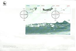 Norway 2012 Aviation, Norwegian Aviation 100 Year, Planes, Aircrafts Mi Bloc 43  FDC - Norwegen