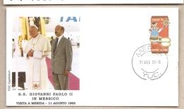 Messico - Busta Con Annullo Speciale: Visita Di S.S. Giovanni Paolo II - 1993 - Messico