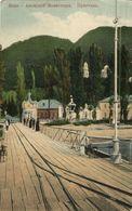 Georgia Russia, NEW ATHOS, Новый Афон, Abkhazia, Monastery From The Pier (1910s) - Géorgie