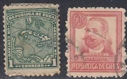 Cuba, Scott #253, 272, Used, Map, Maceo, Issued 1914-1917 - Cuba