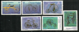 ANDORRA.L'histoire Du Vélo, Draisienne, Grand Bi, Vélocipède,etc.   6 Timbres Neufs ** - Wielrennen